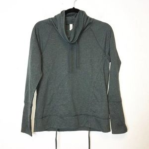 Lucy Womens Green Cowl Neck Pullover